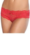 Lace Crotchless Panty - Red