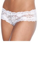 Lace Crotchless Panty - White