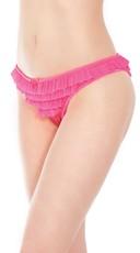 Plus Size Romantic Ruffles Bikini Panty - Neon Pink