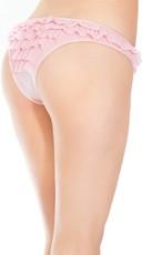 Plus Size Romantic Ruffles Bikini Panty - Pink