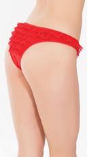 Plus Size Romantic Ruffles Bikini Panty - Red
