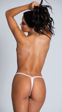 Lace Crotchless G-String - White