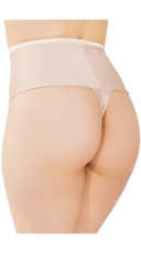 Plus Size High Waisted Thong - Nude