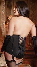 Plus Size Zip Front Stretch Waist Cincher - Black