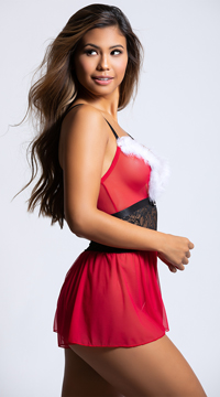 Hot Helper Romper - Red/Black