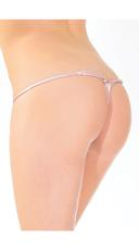 Pink Eyelash Lace G-String - Pink