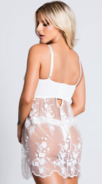 Sheer Sophistication Babydoll - White