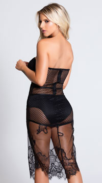 Bad Intentions Lingerie Gown - Black