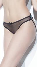 Darque Plus Size Crotchless Panty - Black