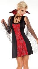 Darque Vampire Costume - Black/Red