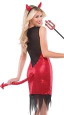 Divine Devil Costume - Red/Black