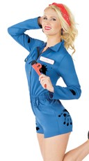 Sexy Mechanic Costume - Navy
