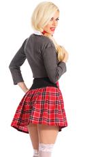 Foxy School Girl Costume - Green/Red