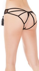 Plus Size Spellbound Strappy Back Panty - Black