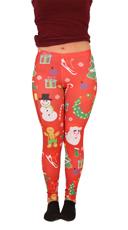Christmas Tree Leggings - Red