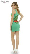 Raphael Teenage Mutant Ninja Turtle Tank Dress - Green/Red