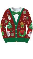 Plus Size Ugly Christmas Cardigan Sweater Shirt