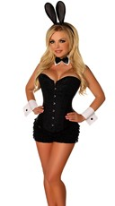 Deluxe Bunny Beauty Costume - Black/White