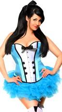 bdb75259d8 ... Scandalous Alice Corset Costume - Blue White ...