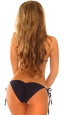 Denim Pucker Back Bikini - Blue