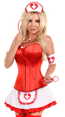 Pin-Up Nurse Costume - Red/White