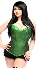 Lavish Green Glitter Corset - Green
