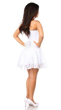 lavish white lace corset dress lace corset dress white