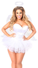 Flirty Angel Corset Costume