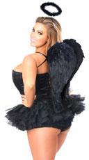 Flirty Dark Angel Corset Costume