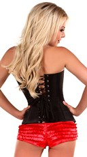 Black Sweetheart Zip Front Corset - Black