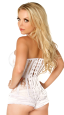 Plus Size Top Drawer Ivory Lace Corset - Ivory