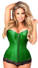 Plus Size Emerald Steel Boned Corset - Emerald