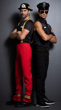 Men's Citizen Heroes Couples Costume - as shown