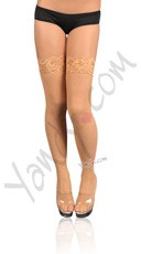 Fishnet Thigh High with Lace Top - as shown