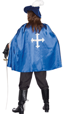 Men's Mighty Musketeer Costume - Blue