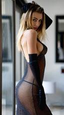 Midnight Romance Lingerie Gown - Black