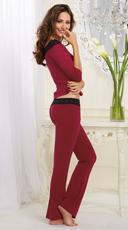 Raspberry and Lace Pajama Set - Raspberry