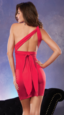 Versatile Ruched Red Dress - Red
