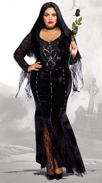Plus Size Frightfully Beautiful Costume