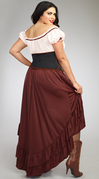 Plus Size Saloon Girl Costume