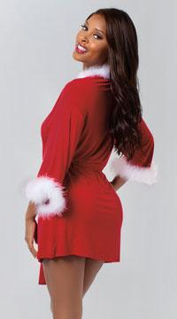 Sexy Santa Robe - Ruby