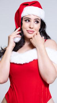 Plus Size Festive Santa Teddy Set - Ruby