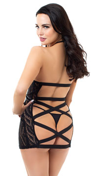 Bound To Be Together Chemise Set - Black