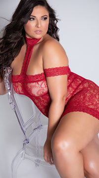 Plus Size Sexy To The T Chemise - Garnet