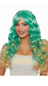 Braided Green Mermaid Wig