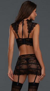 Fancy That Bralette Set - Black