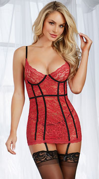 Royally Ruby Chemise Set - Ruby