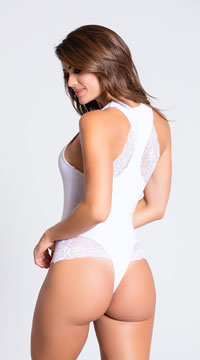 Be My Wifey Bridal Bodysuit - White