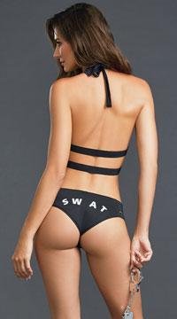 Sensual Enforcement Lingerie Costume - Black