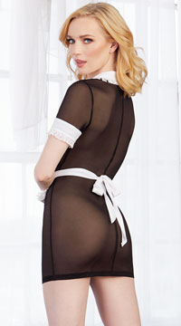Maid Me Dirty Lingerie Costume - Black